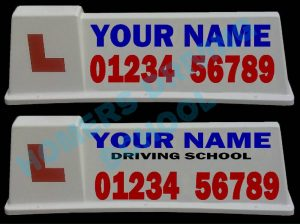 Driving Instructor School Roof Top Box Sign Magnets