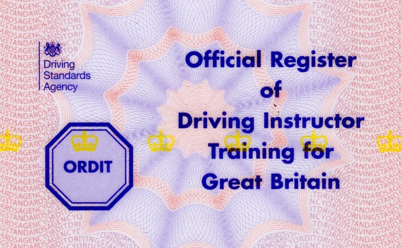 ORDIT Official Register Driving Instructor